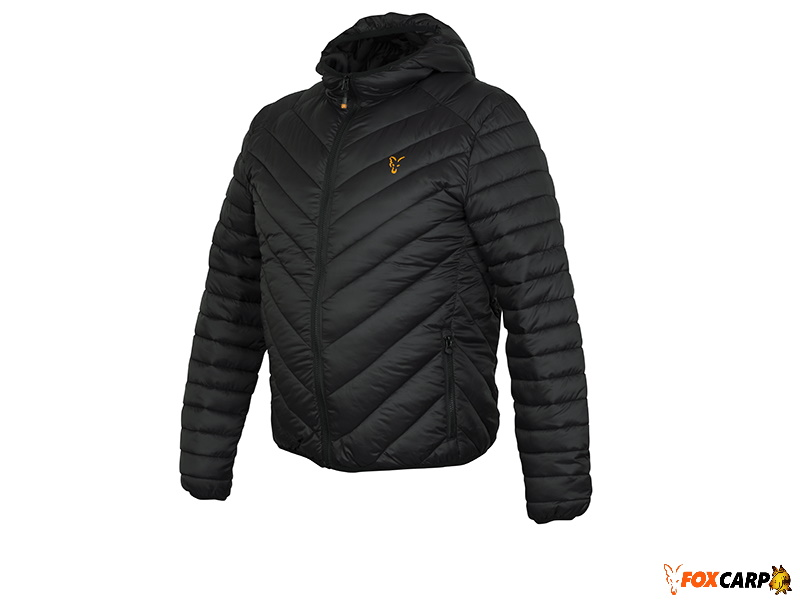 a  Fox Collection quilted Jacket Black / Orange