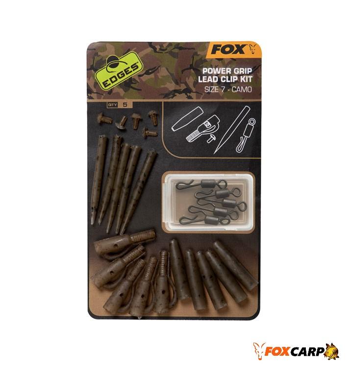 Fox Camo Power Grip Lead Clip Kit №7 (набір безпесних кліпс щільного захоплення)