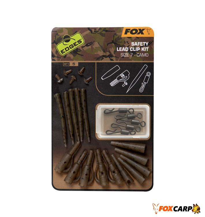 Fox Camo Safety Lead Clip Kit (камуфльований набір безпечних кліпс)