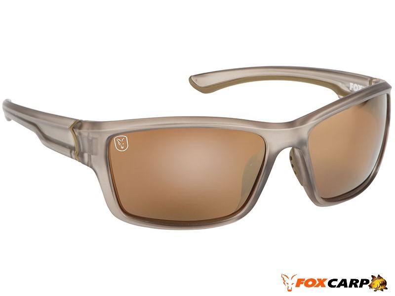 Fox® Avius® Wraps — Trans Khaki Frame/Brown Mirror Lens
