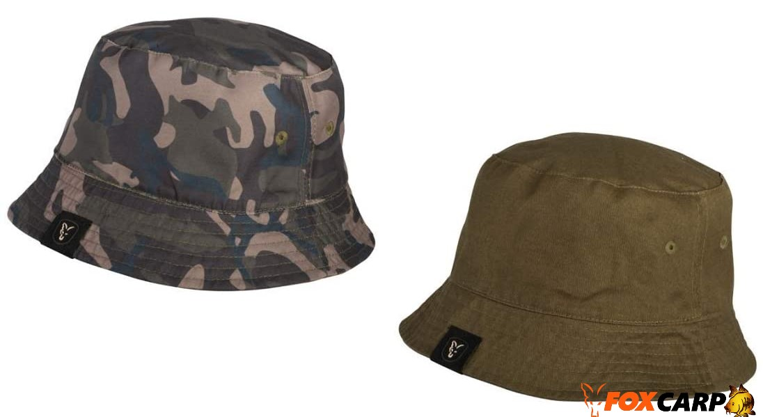 Fox Khaki /Camo Reversible Bucket Hat