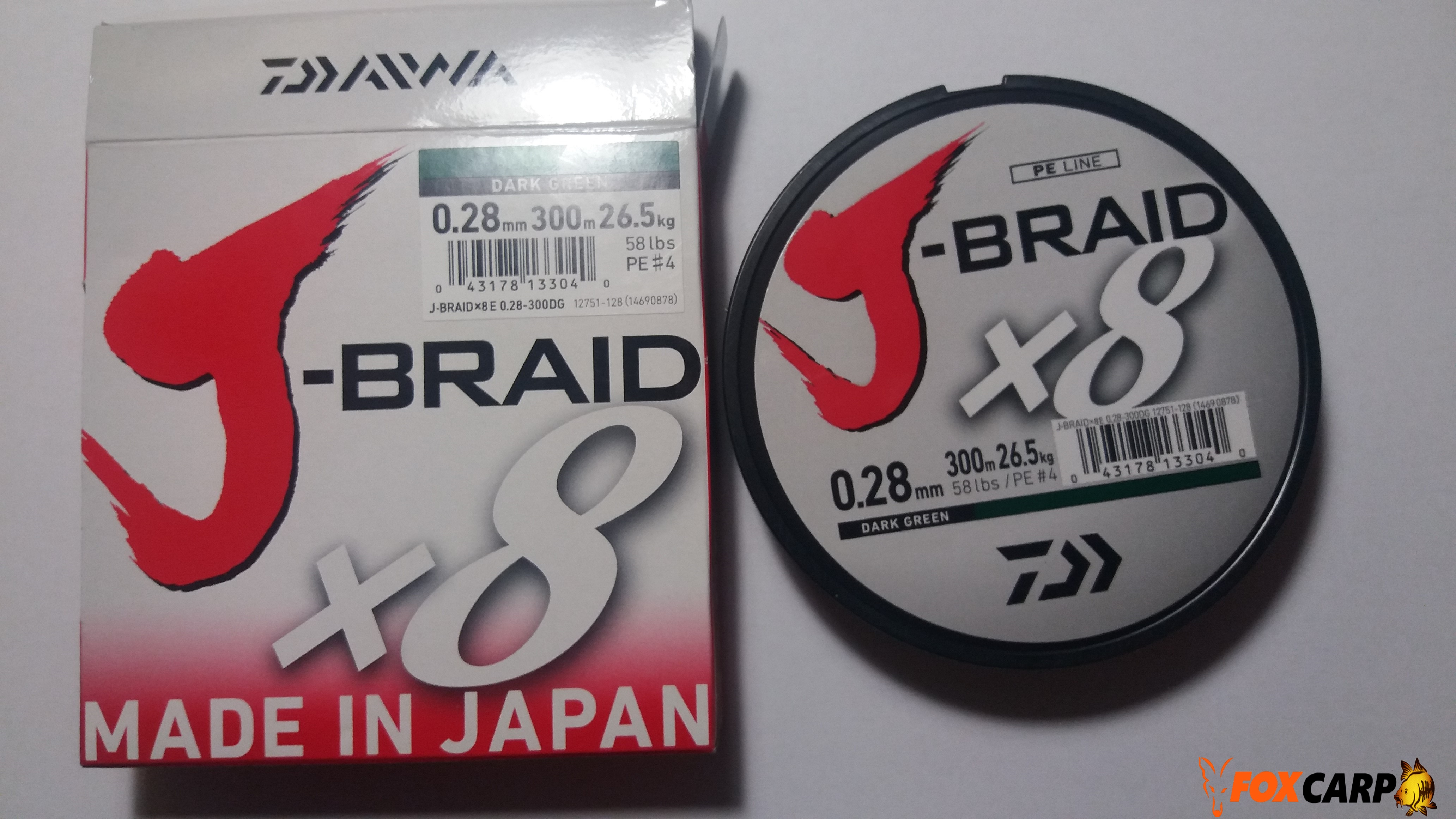 Шнур Daiwa J-Braid X8 -300m