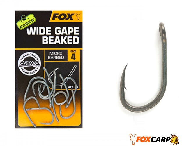 Fox Крючки EDGES™ Wide gape beaked