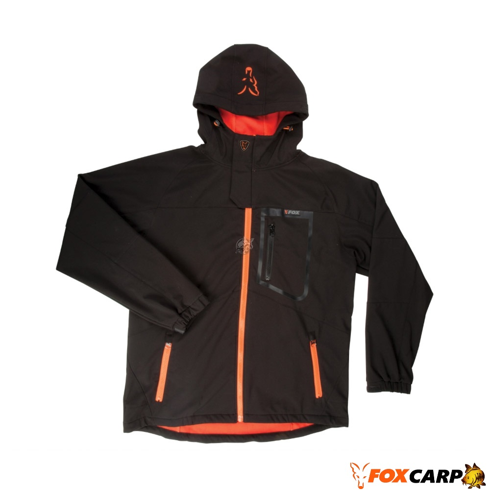 Fox Куртка Black / Orange Shofshell Jacket