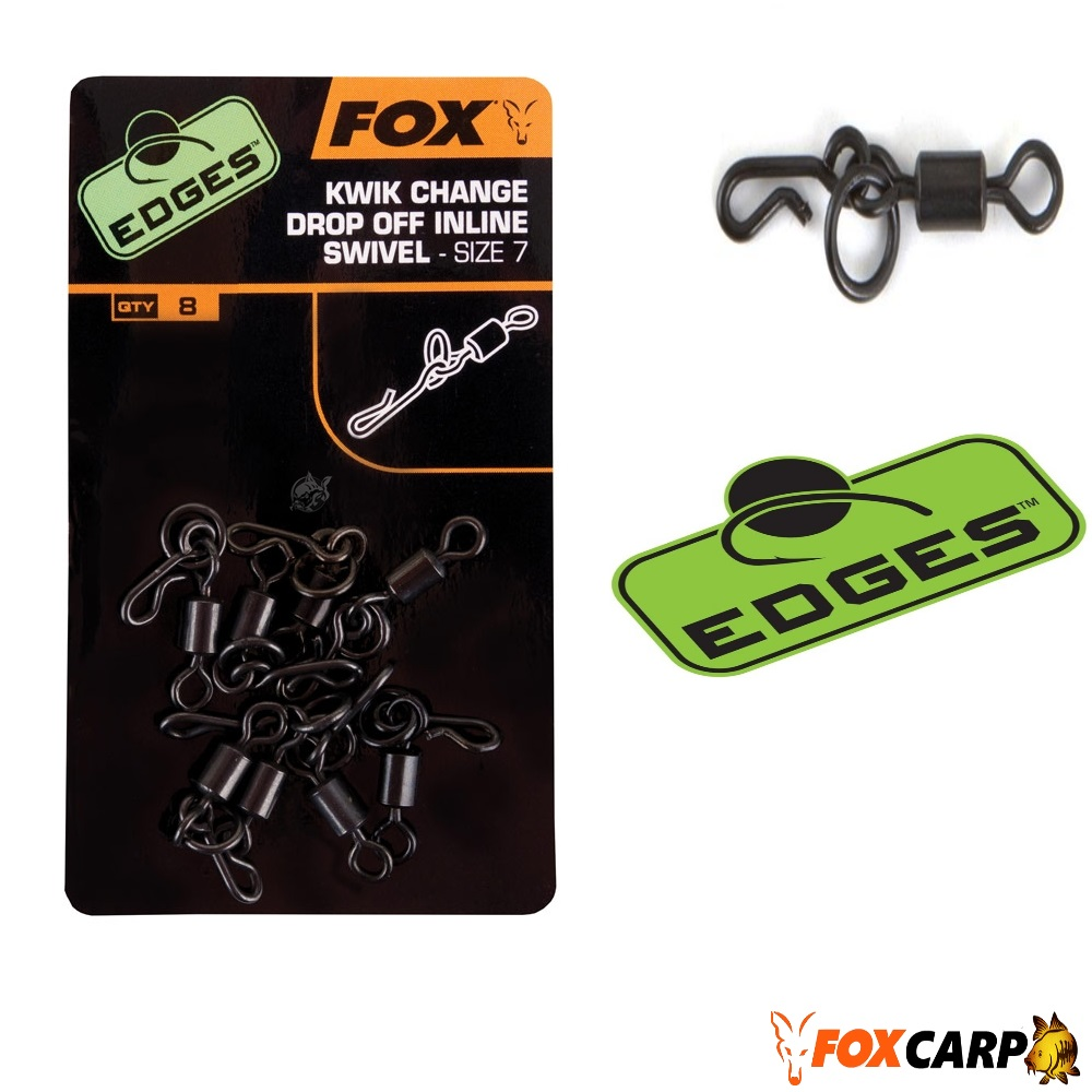 Fox Вертлюжок для ин лайн грузил EDGES™ Kwik Change Inline Swivel