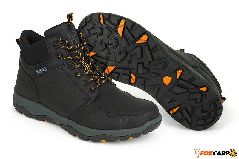 a Fox Collection black / orange mid boot