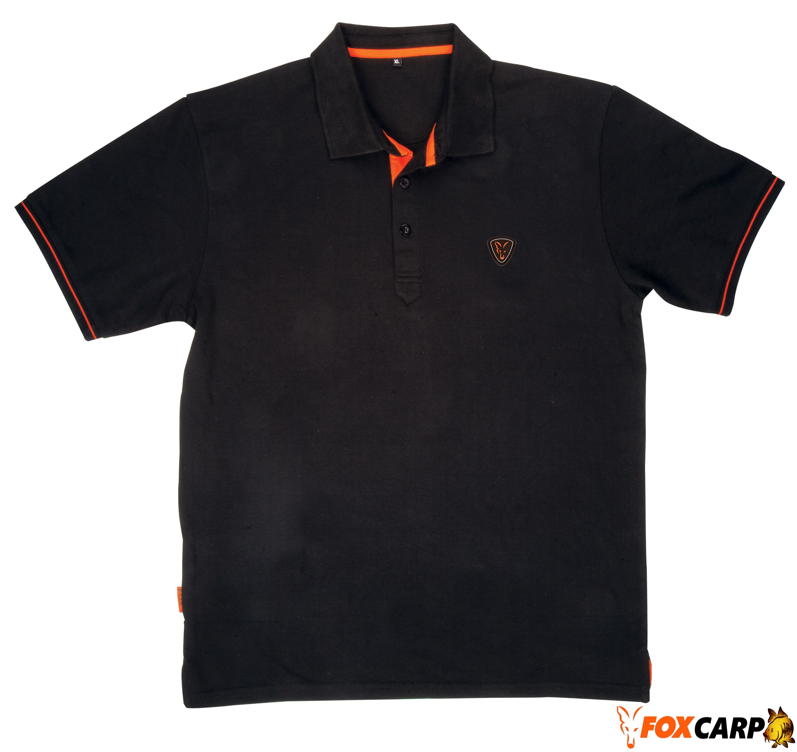 Fox тенниска Black Orange Polo Shirt
