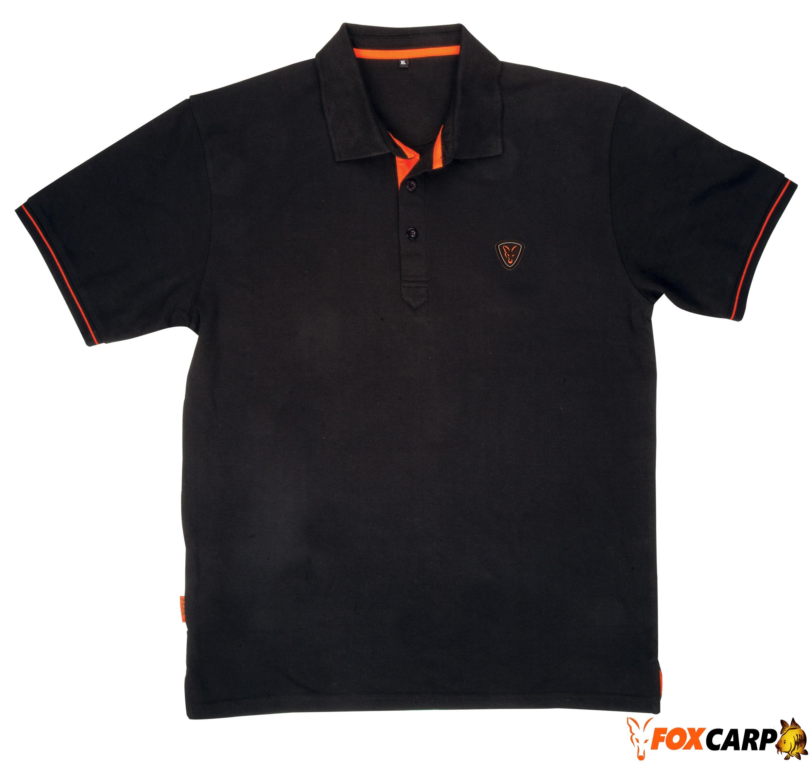 Fox тенниска Black Orange Polo Shirt