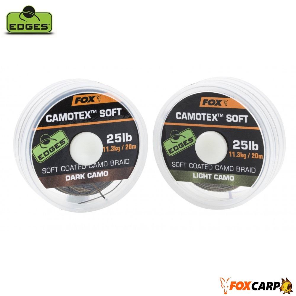 Fox Поводочный материал в мягкой оплетке EDGES Camotex Soft