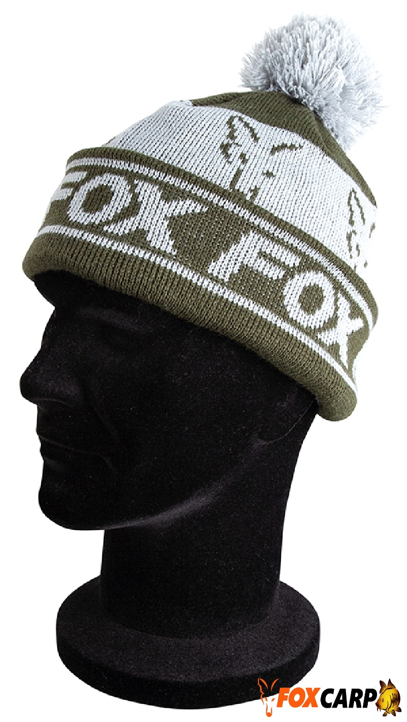 Fox Green/Silver — Lined Bobble Hat