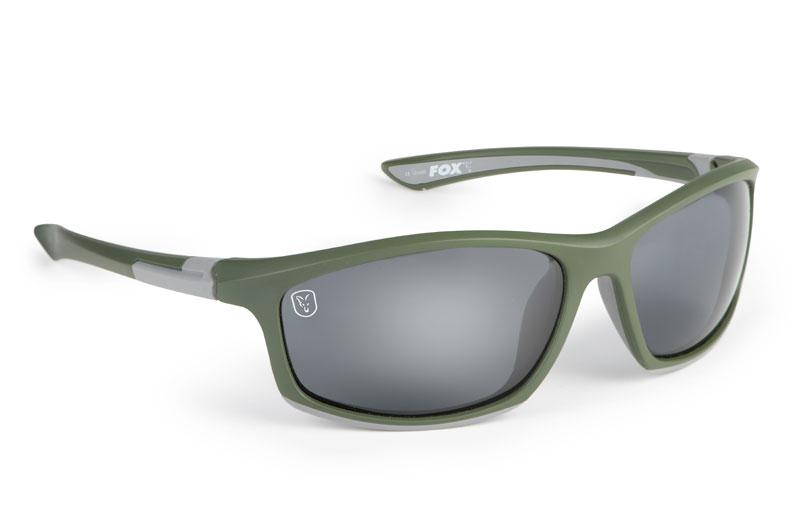 Fox Collection Green & Silver Frame/Grey Lens