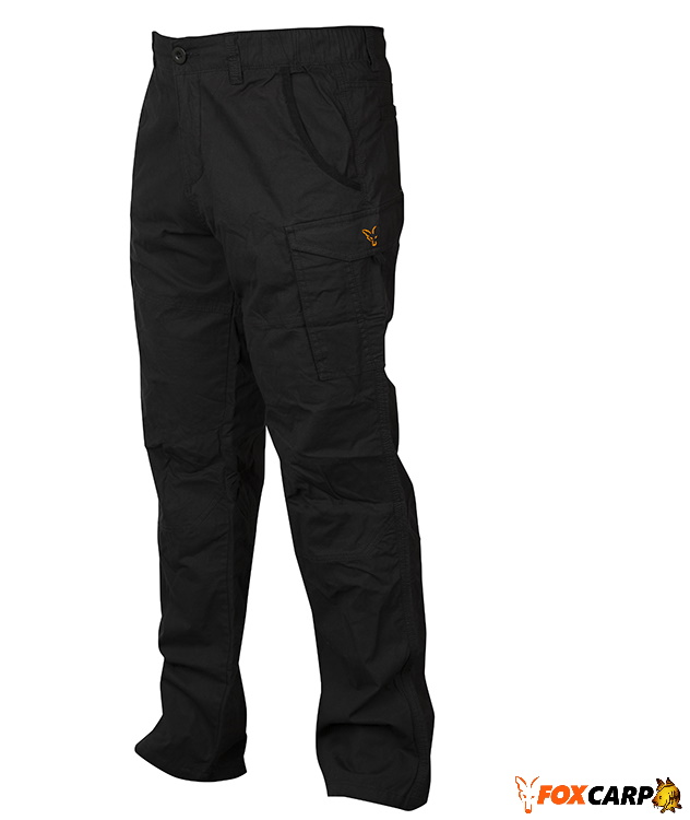 Fox Collection Combats Trousers Black Orange