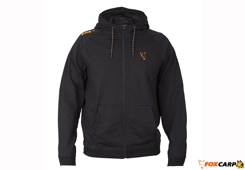 Fox Collection Orange & Black Lightweight Hoodie
