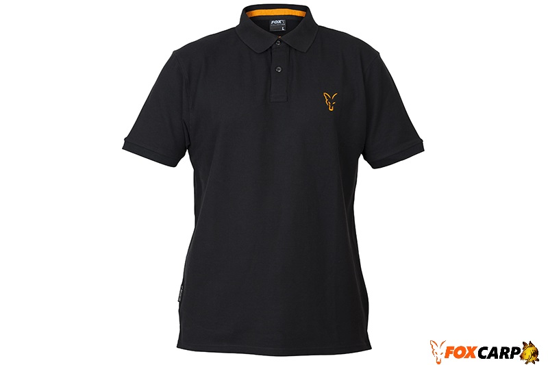 Fox Поло Collection Orange & Black Polo Shirt
