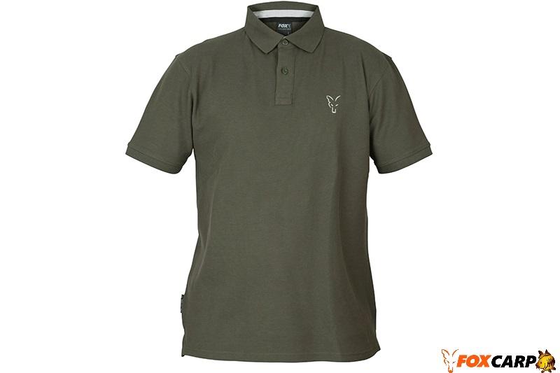 Fox Поло Collection Green & Silver Polo Shirt