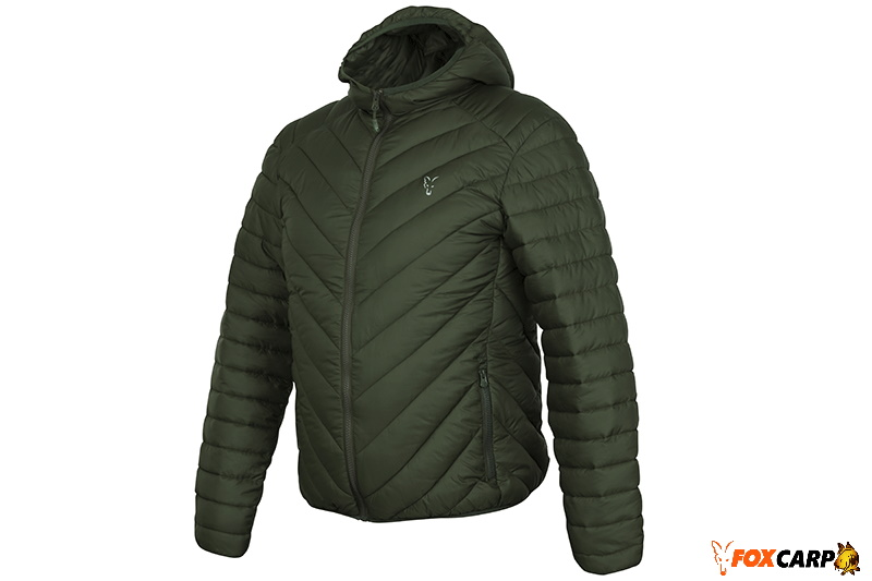 a Fox Collection quilted Jacket Green / Silver