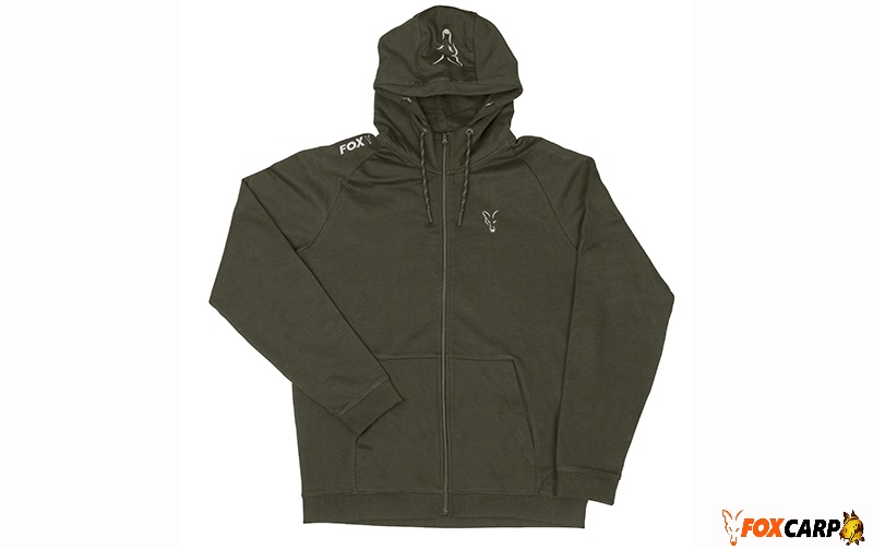 Fox Collection Green & Silver Lightweight Hoodie