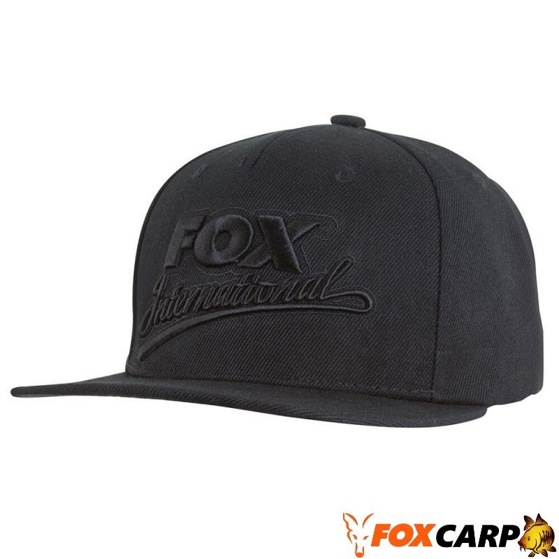 Fox International Black Snapback Cap