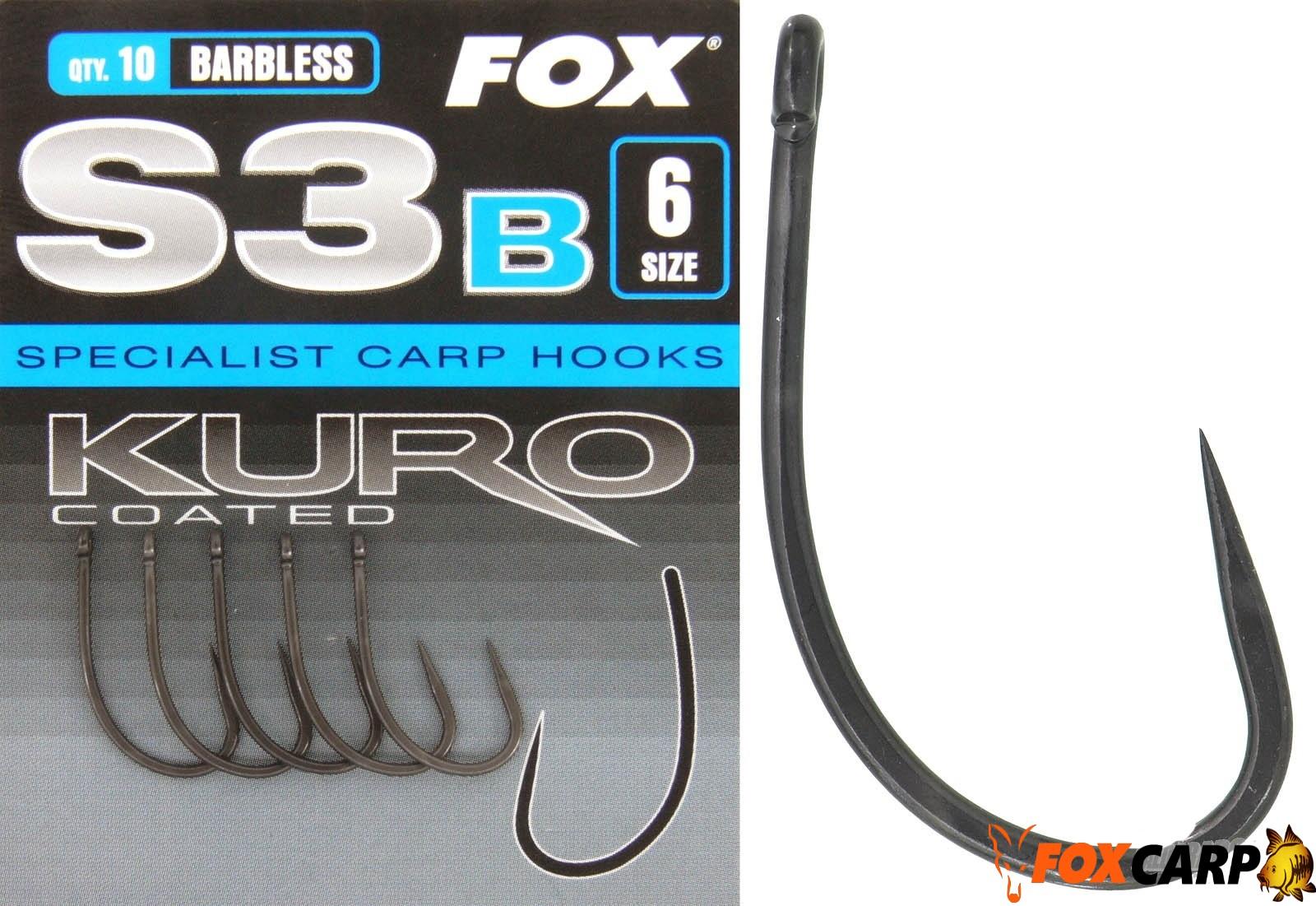 Fox S3 Kuro (крючки без бородки)
