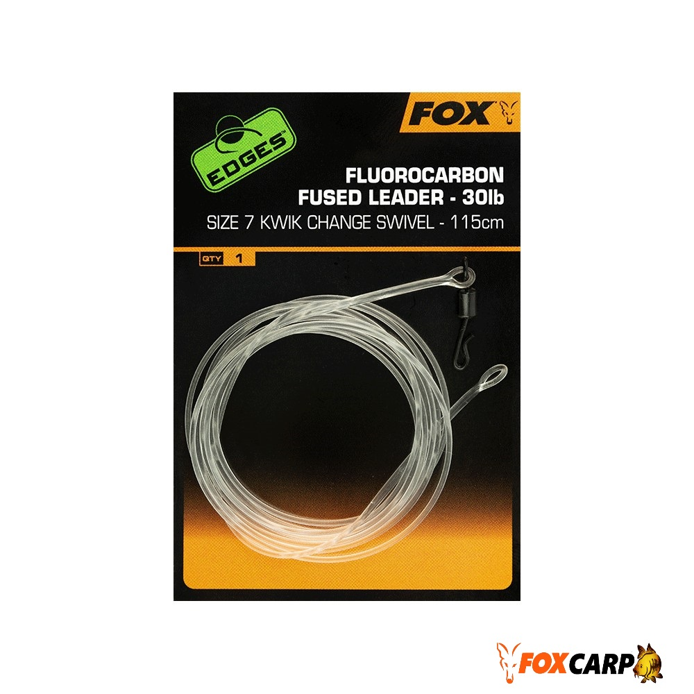 Fox Fluorocarbon Fused Leader — 115 cm
