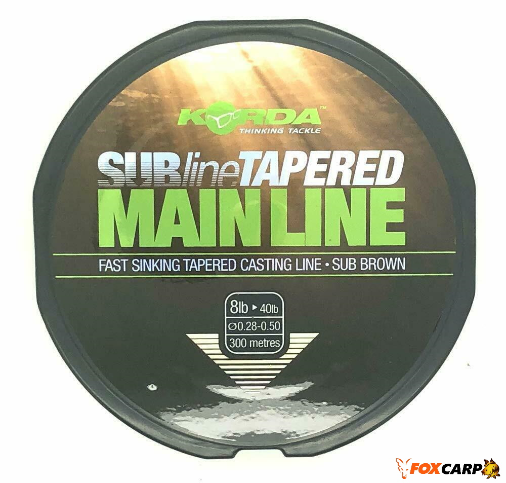 Korda Subline Tapered Mainline (конусна швидко тонуча жилка)